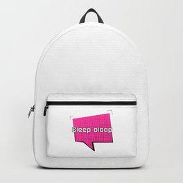 Bleep Bloop Robot Speech Bubble Design Backpack