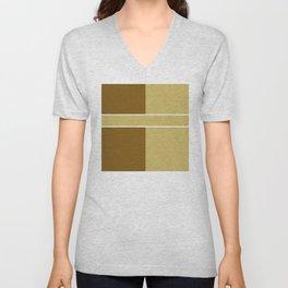 Team Colors 6....gold,brown Unisex V-Neck
