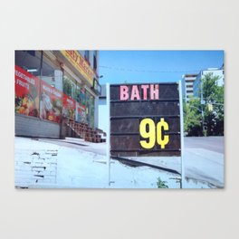 Bath 9 Cents Canvas Print