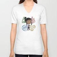 korra V-neck T-shirts featuring Avatar Korra by sambeawesome