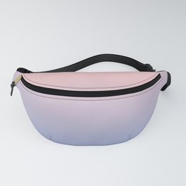 Serenity Blue & Pink soft pastel colors ombre pattern Fanny Pack
