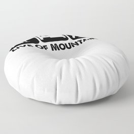 Live Of Mountains bw Floor Pillow