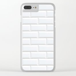 white subway tile Clear iPhone Case