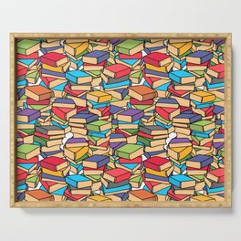 Maximalist Book Collector Serving Tray