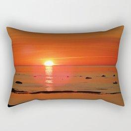 Kayaker and the Setting Sun Rectangular Pillow
