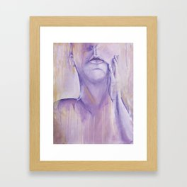 Let's Be Human (While We Still Remember How) Framed Art Print
