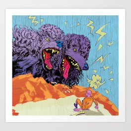 ADULTHOOD (Two-Headed Dog) Art Print