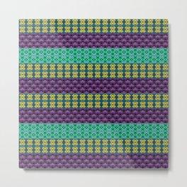 Mardi Gras Colors Metal Print