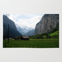 switzerland Area & Throw Rugs featuring Switzerland (Travel) by Laura Vaisman