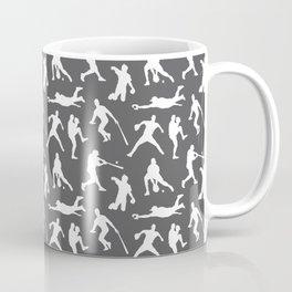 Baseball Players // Charcoal Coffee Mug