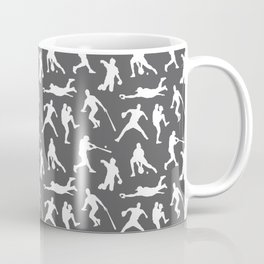 Baseball Players // Charcoal Coffee Mug