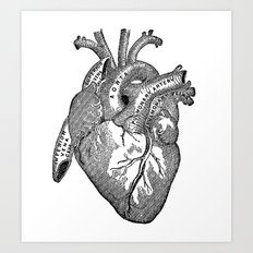 Vintage Anatomy Heart Art Print