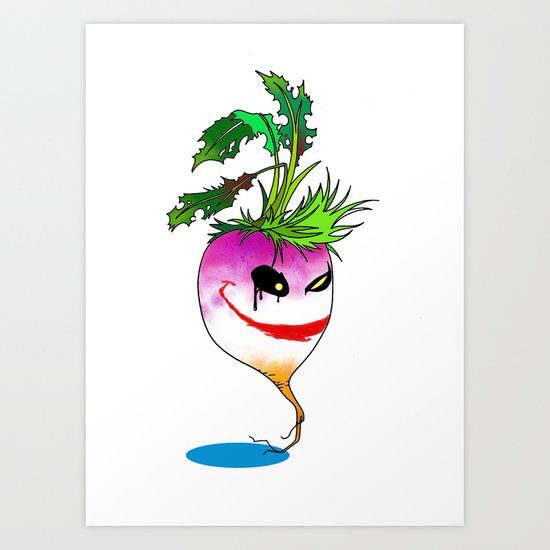 Turnip villain Art Print