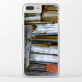 Wood&Rust Clear iPhone Case