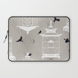Snow Empty Brid Cages Laptop Sleeve