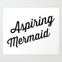 Aspiring Mermaid Art Print