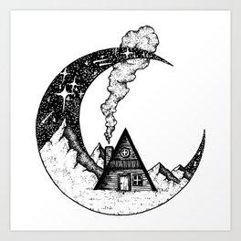 Cabin on the Moon Art Print
