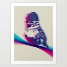 Bird Hair Day Art Print