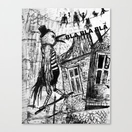 bla,bla,bla Canvas Print