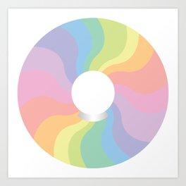 Rainbow Crystal Ball Art Print
