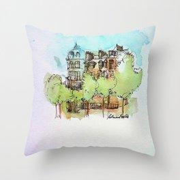 A Paris Street Throw Pillow