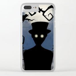 Moonlight Cemetery Clear iPhone Case