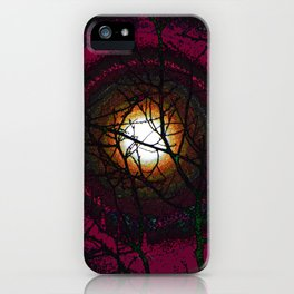 """Wicked Tree Moon #43"" Photograph iPhone Case"