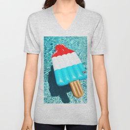 popsicle float all up in our pool Unisex V-Neck
