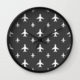 Gunmetal Jets Wall Clock
