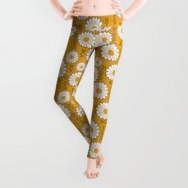 Small Harry Sunflower Shirt Flower Print Hippie Pop Art Floral Pattern Leggings