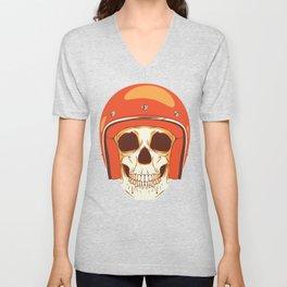 Helmet Skull Unisex V-Neck