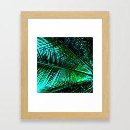 TROPICAL PALM LEAVES Framed Art Print