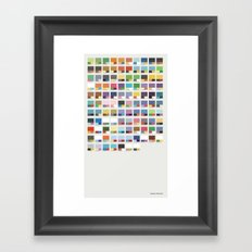 Poke-Pantone 4 (Sinnoh Region) Framed Art Print