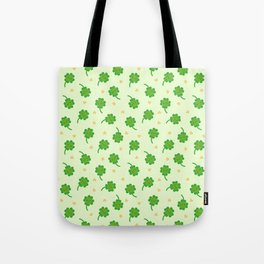 Kawaii Lucky Clover Tote Bag