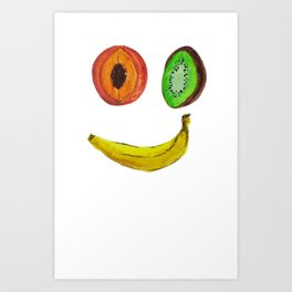 Happy Fruit I Art Print