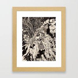 Entanglement (Untitled Face II) Framed Art Print