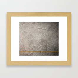 concrete texture and gold Framed Art Print