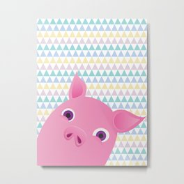 Sweet Piggy Metal Print