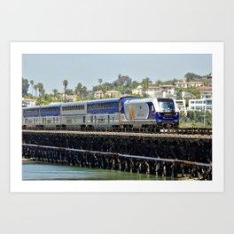 Train Spotting in Del Mar by Reay of Light Art Print