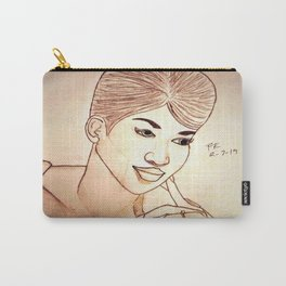 Aretha Franklin by Double R Carry-All Pouch