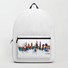 London Watercolor Skyline Silhouette Backpack