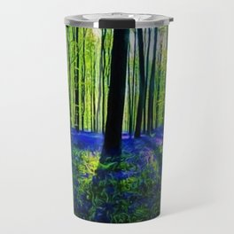 'Bluebells of the Rhode Island Spring' Landscape by Jeanpaul Ferro Travel Mug
