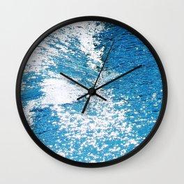 Hard Water Waves Abstract #watercolor #artprints #society6 Wall Clock