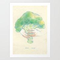 Broccoli bouquet Art Print