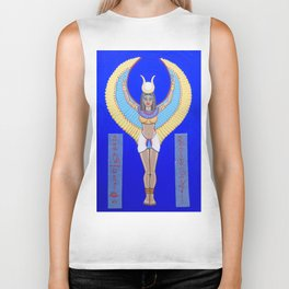 Goddess Isis, Awaken Within our Hearts Biker Tank