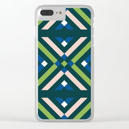 GEOMETRIC COLORS Clear iPhone Case