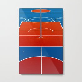 The Court in Red and Blue (Color) Metal Print