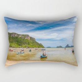Fishing Boats Thailand Rectangular Pillow