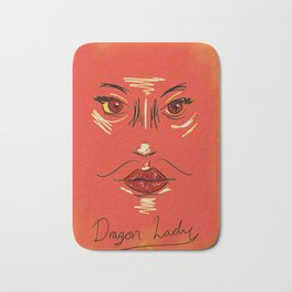 Dragon Lady in Rustic Red Bath Mat