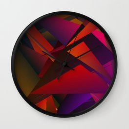 Smoke Screen Abstract 1 Wall Clock